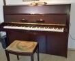 Bechstein Piano: rotbraun gebeizt, lackiert