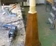 Aufbau des Sockels für die Flügelrollen