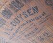 Originalbild der Besitzerin - rostige Saiten und Resonanzbodenriss