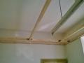 Die Holzkonstruktion für die Decke...