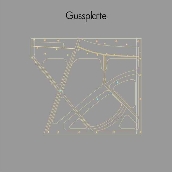 Gussplatte