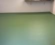 Boden und Wände frisch gestrichen