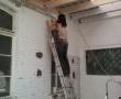 Dann sind die Dachbalken dran